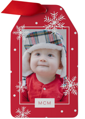 babys first year christmas metal ornament