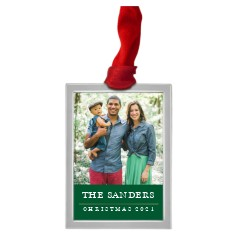 classic holiday colorblock pewter ornament