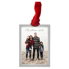 Rectangle Personalized Christmas Ornaments  Photo Ornaments