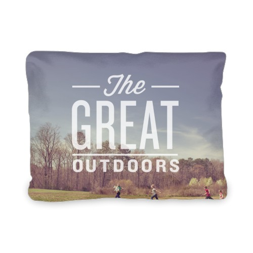 The Great Outdoors Outdoor Pillow, Pillow (Taupe), 12 x 16, Single-sided, White