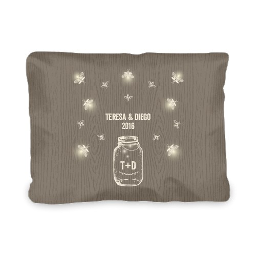 Forever Fireflies Outdoor Pillow, Pillow (Ivory), 12 x 16, Single-sided, Brown