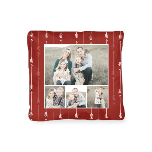Arrow Collage Outdoor Pillow, Pillow (Ivory), 16 x 16, Single-sided, Red