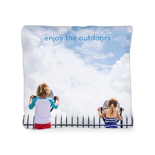 Photo Gallery Outdoor Pillow, Pillow (Ivory), 18 x 18, Single-sided, Multicolor