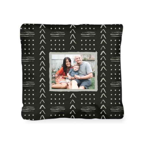 Black Aztec Outdoor Pillow, Pillow (Navy), 18 x 18, Single-sided, Black