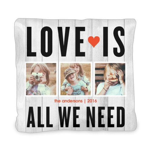 Love Is All We Need Outdoor Pillow, Pillow (Navy), 20 x 20, Single-sided, Grey