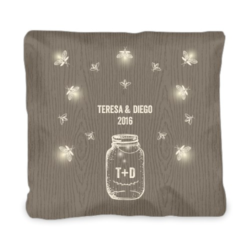 Forever Fireflies Outdoor Pillow, Pillow (Navy), 20 x 20, Single-sided, Brown