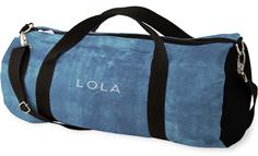 denim texture kids overnight bag