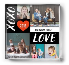 xoxo love grid paper weight