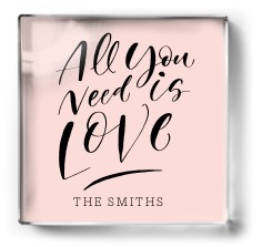 all you need is love paper weight