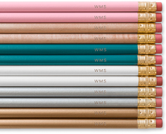 three letter monogram pencils
