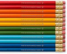 moon and stars pencils