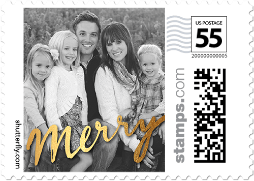 Merry Moment Personalized Postage Stamps