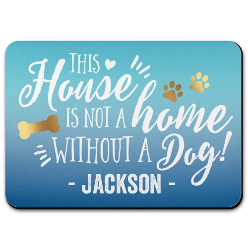 Home and Dog Pet Placemat