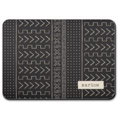 playful patterns mudcloth pet placemat