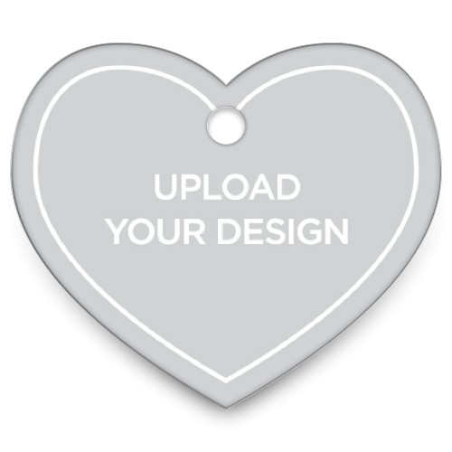 Upload Your Own Design Heart Pet Tag, Multicolor