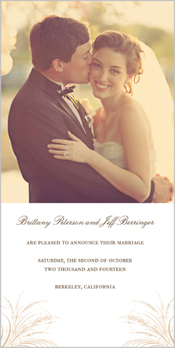 Signature Elegance Wedding Announcement