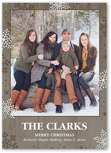 Wintery Wood Christmas Card