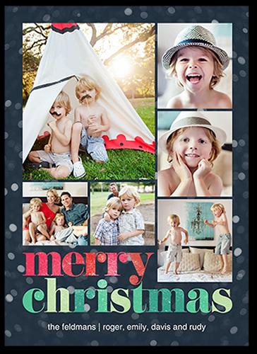 Colorful Bokeh Christmas Card