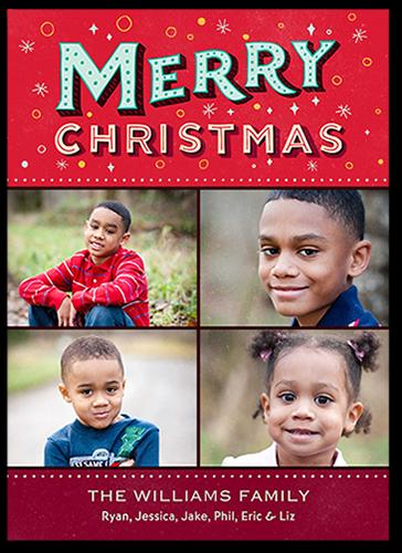 Jubilant Confetti Christmas Card