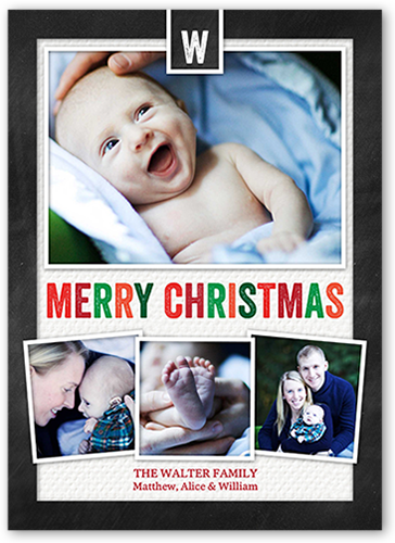 Festive Letters Christmas Card