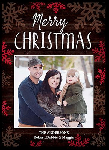 Festive Snowflakes Christmas Card