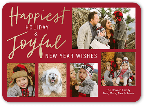 Handwritten Happiness Holiday Card