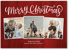 chalked sentiment holiday card