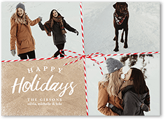 simple wrapping holiday card