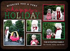 looped joy holiday card