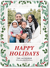 iconic berries holiday card