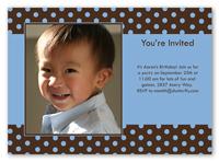 dot spots sky everyday party card 5x7 photo