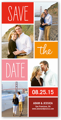 Simply Colorful Save the Date, Square Corners