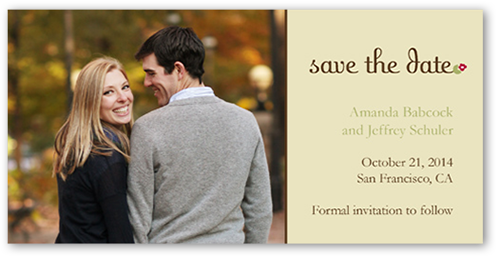Single Flower Cream Save the Date