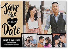 crafted love save the date 5x7 photo