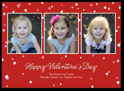Confetti Hearts Valentine's Card
