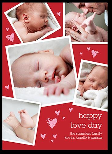 Cute Heart Collage Valentine's Card
