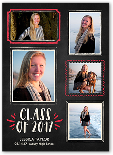 Chalk Frames Grad Graduation Card