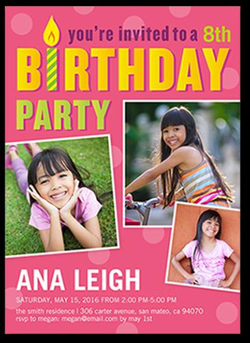 Birthday Wish Girl Birthday Invitation, Square Corners