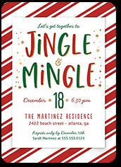 jingle and mix holiday invitation