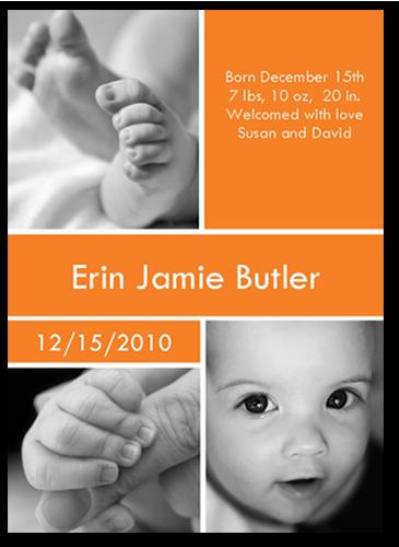 Big Cubes Tangerine Photo Card