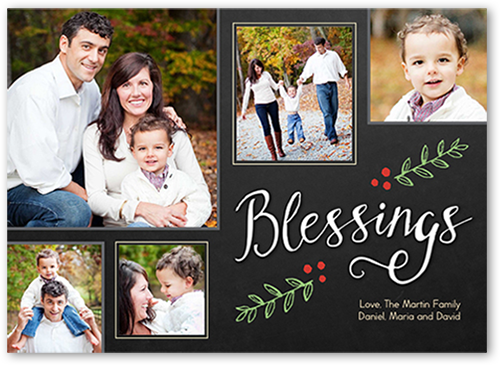 So Many Blessings Religious Christmas Card