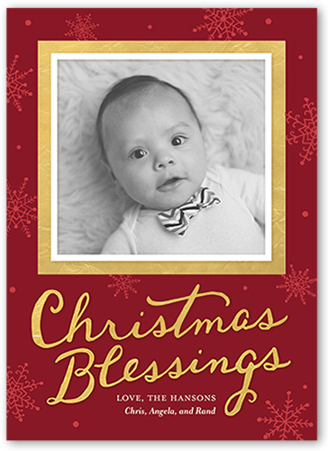 Polished Blessings Religious Christmas Card