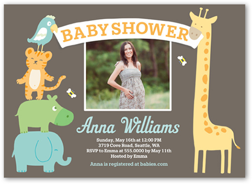 Sunny Safari Boy 5x7 Photo Card Baby Shower Invitations Shutterfly