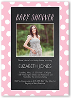 baby shower invitation from 040 028 personalize chalkboard dots girl