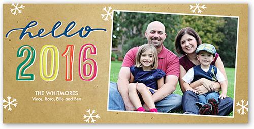 New Year Hues New Year's Card