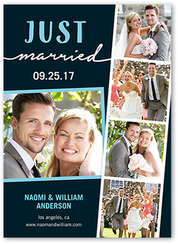 Just Married Filmstrip Wedding Announcement
