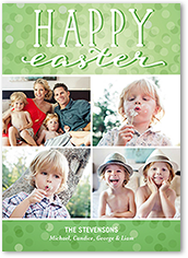 bright easter bokeh easter card 5x7 photo