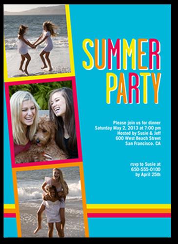 Bright Colors Summer Invitation, Square Corners