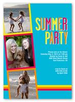 bright colors summer invitation 5x7 photo