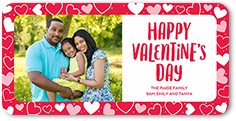joyful heart border valentines card 4x8 photo